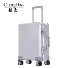 100% alliage daluminium voyage daffaires Malas de viagem com rodinhas TSA serrure cabine chariot valise bagage à main