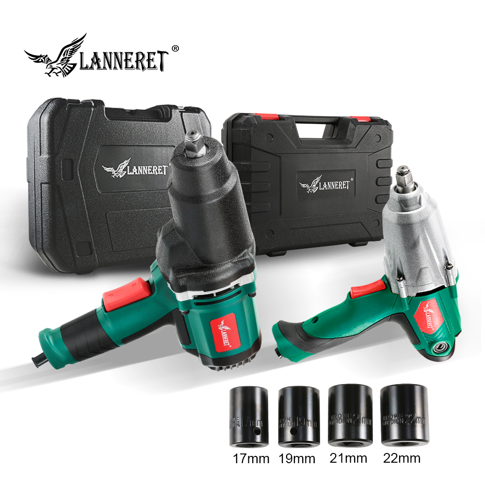LANNERET Electric Impact Wrench Max Torque 1/2 Inch Car Socket Household Professional Wrench Tire Tool