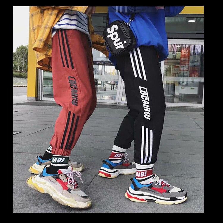 Autumn Pants Men's Korean-style Trend Slacks Thin Woven Elastic Tape Sports Ankle Banded Pants MEN'S Casual Pants