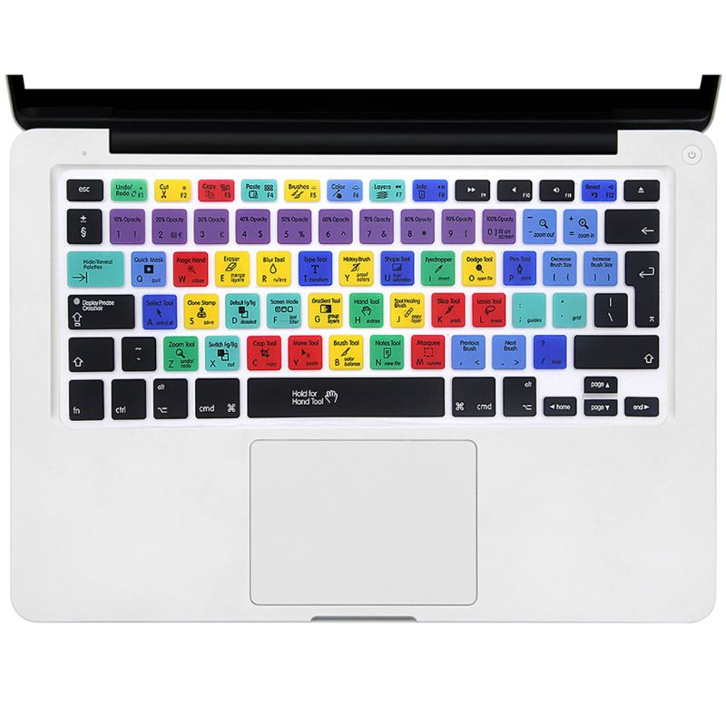 European Version Adobe Photoshop Shortcut Keys Keyboard Protector Keyboard Cover H37E image
