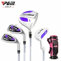 PGM Quality Goods Children Golf Wedge Clubs Full Set Of Male Girl Beginner Rod 3 12 Age Group Driver Putters With Bag A954