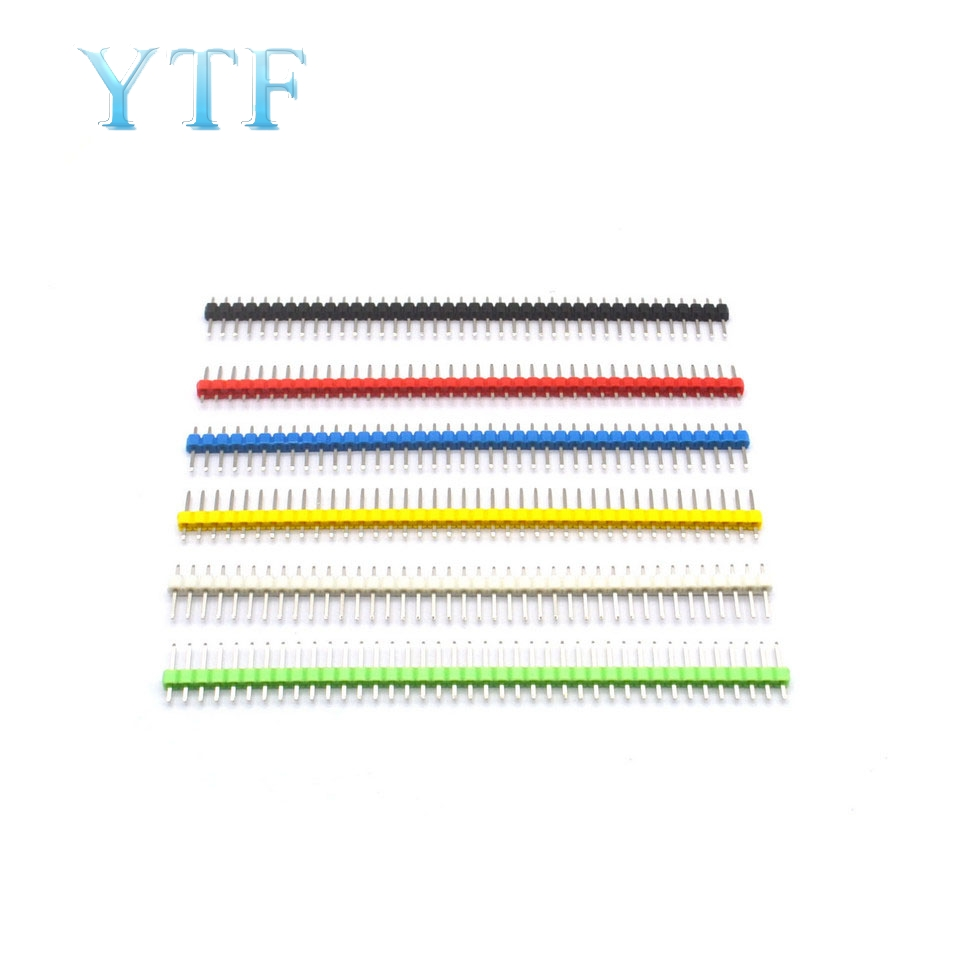 10pcs 40 Pin 1x40 Colorful Single Row Male 2.54MM Breakable Pin Header Connector 40pin Strip For Arduino