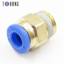 цена на 4PCS Push In To Connect Fitting Male Straight Connector Pneumatic Air Fitting For 6mm Tube OD x 1/4 BSPT