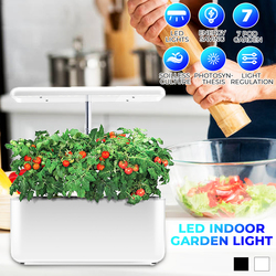 Ecoo Grower, planta de interior, luz de crecimiento hidroponía, cultivo sin tierra, planta de cultivo, luz Auto, maceta de vivero de flores para vivero de plantas