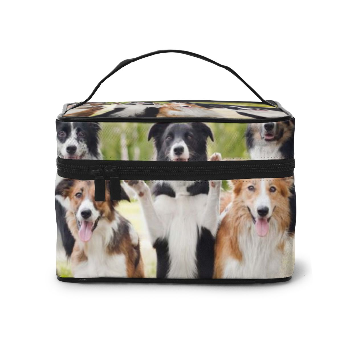 NOISYDESIGNS New Fashion Women Make Up Bags Travel Organizer Cosmetic Bag Cases Border Collie Toiletry Kit Pouch Beauty Bag
