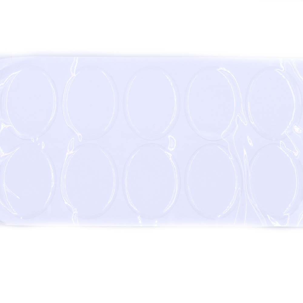 50Pcs 3D Resin Epoxy Stickers Clear Oval Embellissement Domes Cabochon High Translucent Jewelry Making 18x13mm 25x18mm 40x30mm