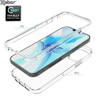 360 capa protetora dupla de corpo inteiro para iphone 12 mini 11 pro max x xr xs 7 8 6 6s plus 5 se2 capa transparente macia e rígida