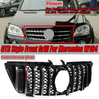 W164 GTR Style GT Grille Grill Car Front Bumper Grill Grille For Mercedes For Benz ML Class W164 ML320 ML350 ML550 2005-2008