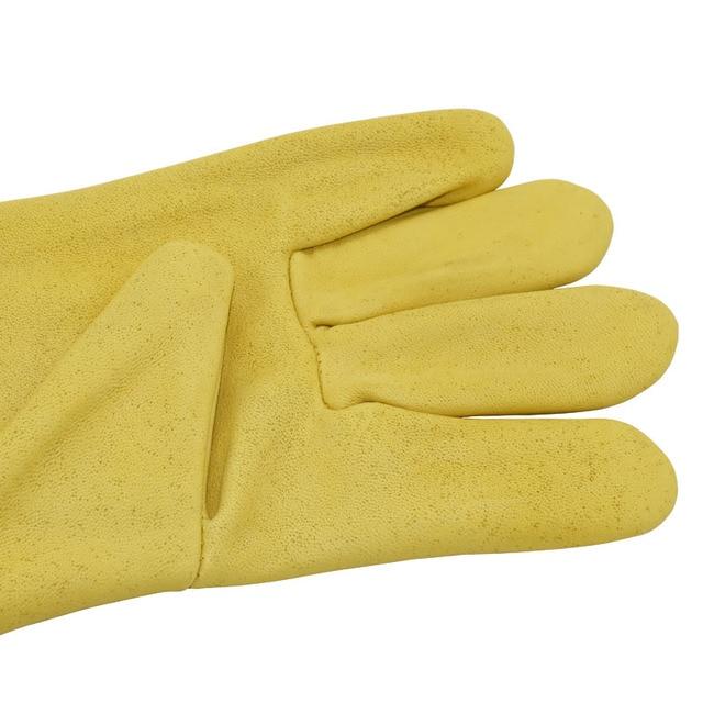1set Beekeeping Gloves Goatskin Bee Keeping With Vented Beekeeper Long Sleeves  3