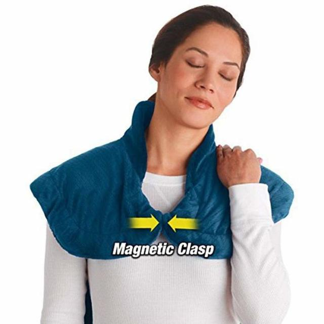 Flannel Health Relief Wrap Neck Shoulder Back Therapy Muscles Pain Relief Pad Massaging Heat Wrap Household Massager 3