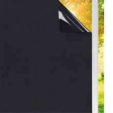 Luckyyj filme blackout para janela, filme de privacidade para janela, escurecimento, para janela preta e bloqueio de luz, cobertura de 100%