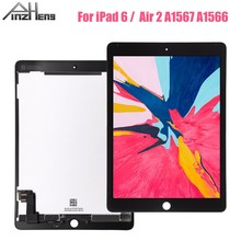 цена на PINZHENG 9.7 inch Original LCD For iPad 6 Air 2 A1567 A1566 Display Touch Screen Digitizer Assembly Replacement Display LCD