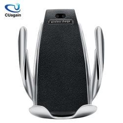 10 Вт Беспроводной автомобиля Зарядное устройство S5 автоматический зажим быстрой зарядки телефона держатель в автомобиль для iPhone xr huawei samsung