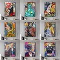Graffiti-Wand Kunst Street bunte graffiti Leinwand Gemälde auf Die Wand Kunst Straße Poster und Drucke für Home Cuadros Decor