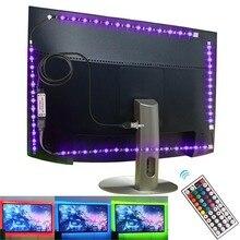 LED sous larmoire lumière rvb USB LED éclairage lit placard cuisine lumières pour la maison armoire placard Diode LED bande DC5V lampe de nuit