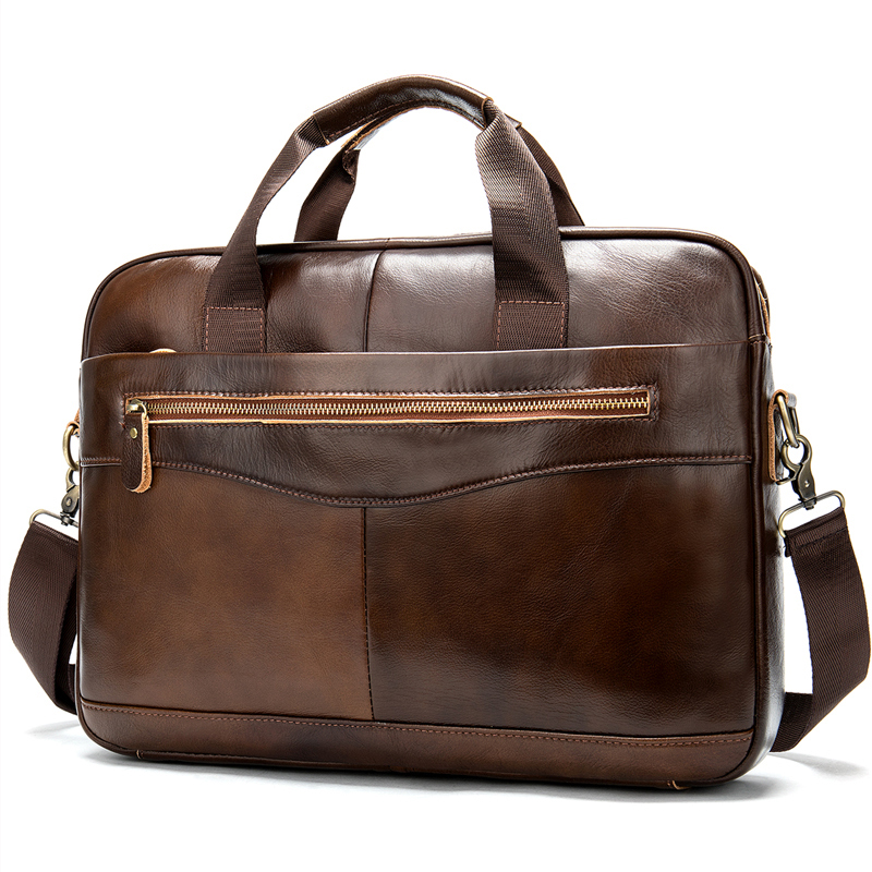 Luufan Men Shoulder Bag Casual Male Briefcases Laptop Men's Computer Bussiness Totes For Men Genuine Leather Messenger Bag