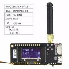 Лилиго®Радиоприемник TTGO LoRa32 V2.1, версия 1,6, 433/868/915 МГц, LoRa, OLED, 0,96 дюйма, SD карта, Bluetooth, Wi Fi