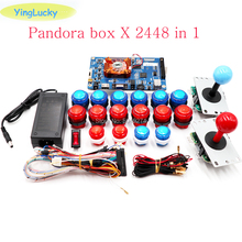Pandora Box 3D WiFi 2448 kit DIY Arcade Kit +LED push buttons +SANWA 5pin Joystick Arcade Console machine Home closet package