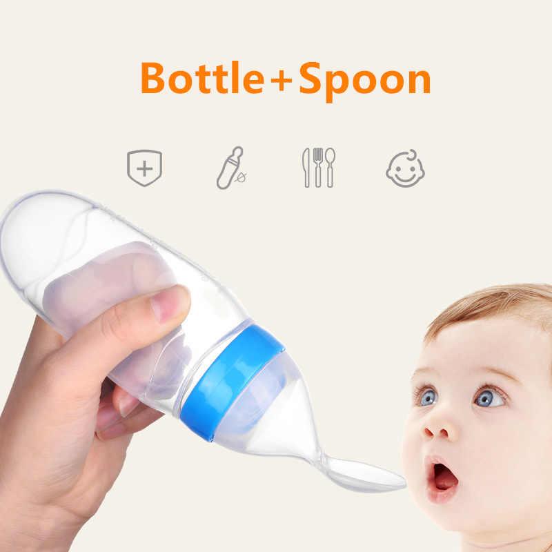 Alimentador de garrafa para bebês, colher de alimentação para bebês, recém-nascidos, de silicone, com conta-gotas