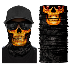 Mascarilla facial para motocicleta, diademas para el cuello, pañuelo mágico para motorista, bufandas de tubo para el cuello, máscaras calavera de miedo, esqueleto para Festival