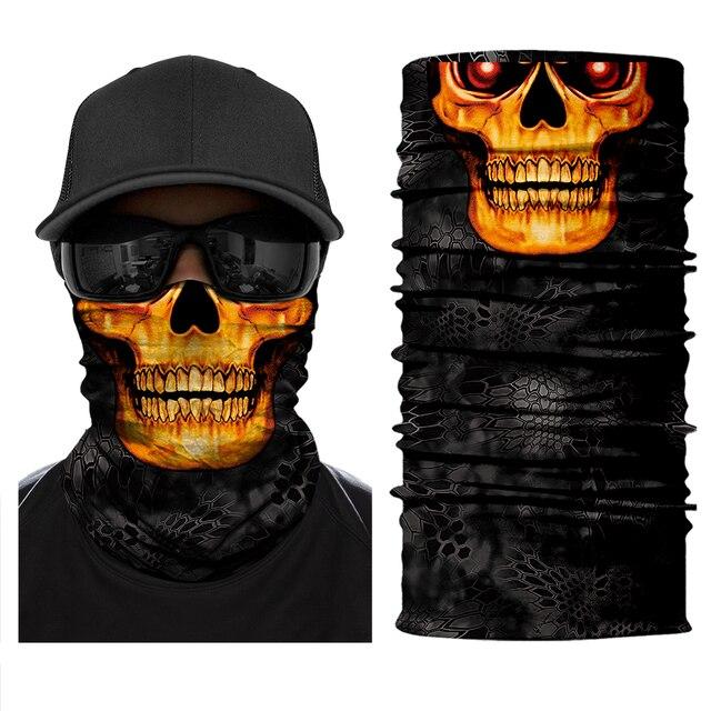 Motorcycle Face Mask Neck Headbands Biker Magic Headscarf Tube Neck Scarves Halloween Scary Mask Festival Skull Masks Skeleton