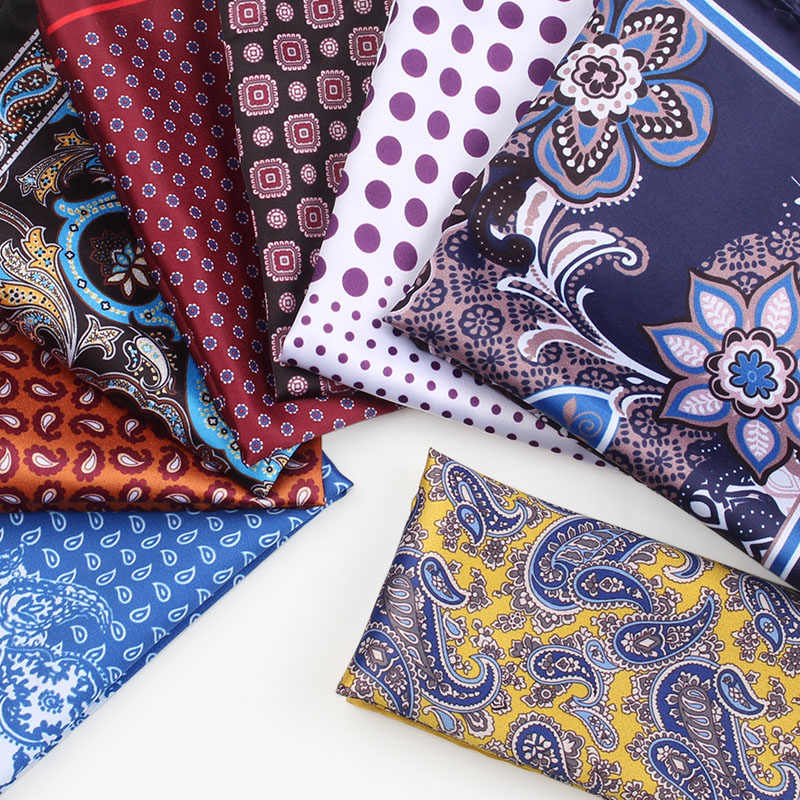 Men/'s Silk Handkerchief Floral Pocket Square Hanky Wedding Party Chest Tower