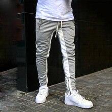 Autumn Casual Pants For Men Drawstring Fitness Men Sportswear Tracksuit Bottoms Skinny