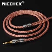 NICEHCK C16-3 16 noyaux câble cuivre haute pureté 3.5/2.5/4.4mm prise MMCX/2Pin/QDC/NX7 PinFor KZCCA ZSX C12 TFZ BL-03 NX7 Pro/DB3