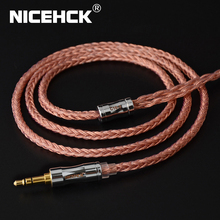 NICEHCK C16 3 16 Kerne Hohe Reinheit Kupfer Kabel 3.5/2.5/4,4mm Stecker MMCX/2Pin/QDC/NX7 PinFor KZCCA ZSX C12 TFZ BL 03 NX7 Pro/DB3