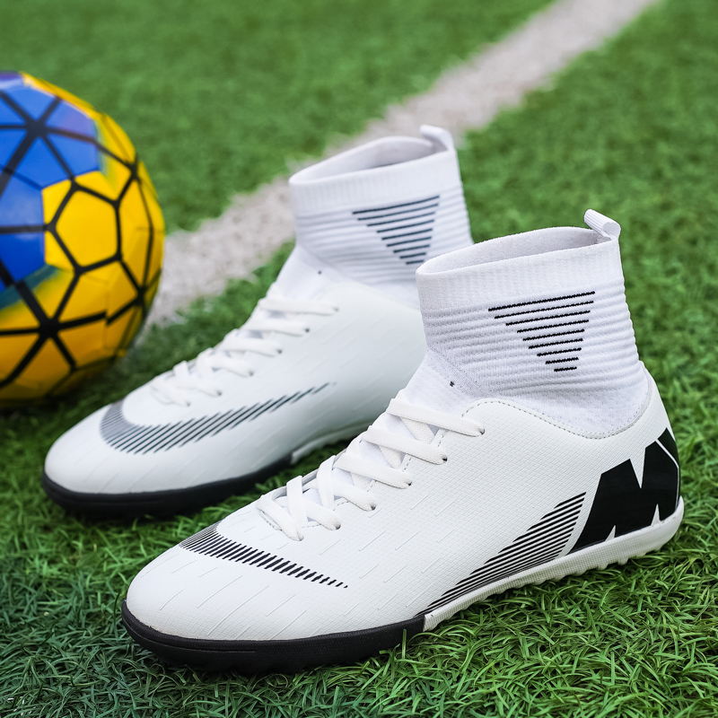 Shoes Men Turf Football-Sock High-Top Long-Spike Outdoor Unisex Brand Comfortable Women title=