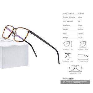 Image 3 - FONEX Acetate Alloy Eye Glasses Frames for Men Square Myopia Optical Prescription Eyeglasses Frames 2020 Screwless Eyewear 98629