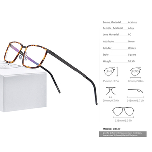 Image 3 - FONEX خلات سبائك العين إطارات النظارات للرجال مربع قصر النظر وصفة طبية البصرية العين إطارات النظارات 2020 بدون مسامير نظارات 98629