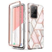 สำหรับ Samsung Galaxy S20 Ultra 5G กรณี I Blason Cosmo Full Body Glitter Marble กันชนกันชนกันชนไม่มีตัวป้องกันหน้าจอในตัว