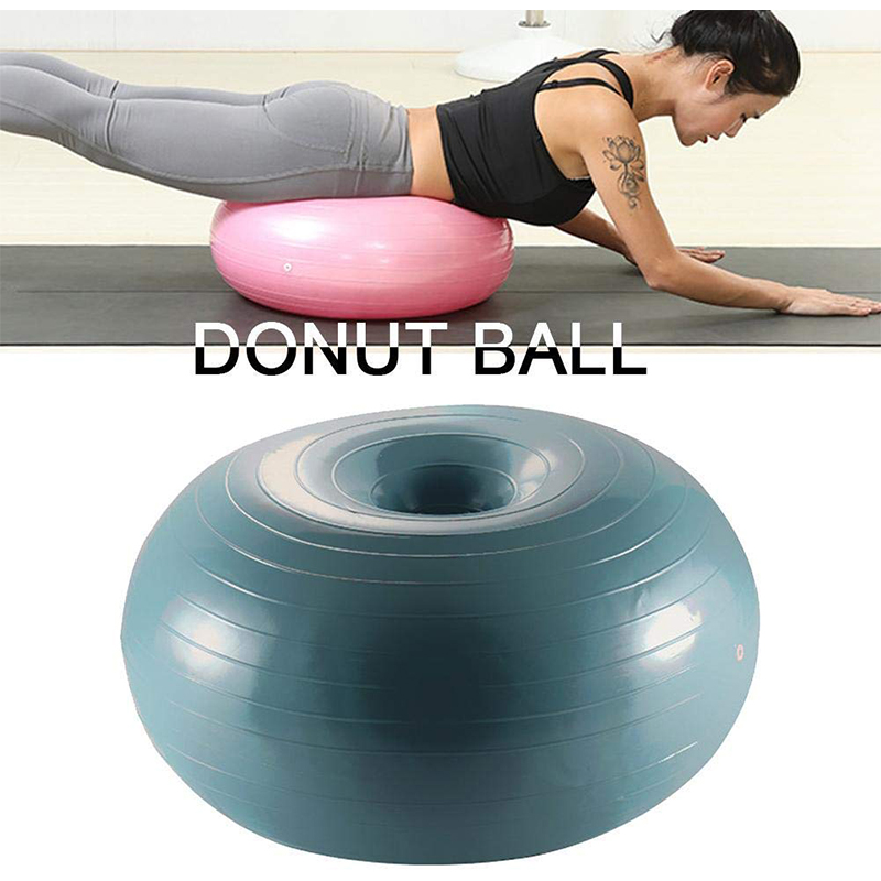 Balance Training Ball Stable Lightweight Donut Trainer Portable Exercise Yoga Gym Home Strength Fitness Ball Fitness Accessories