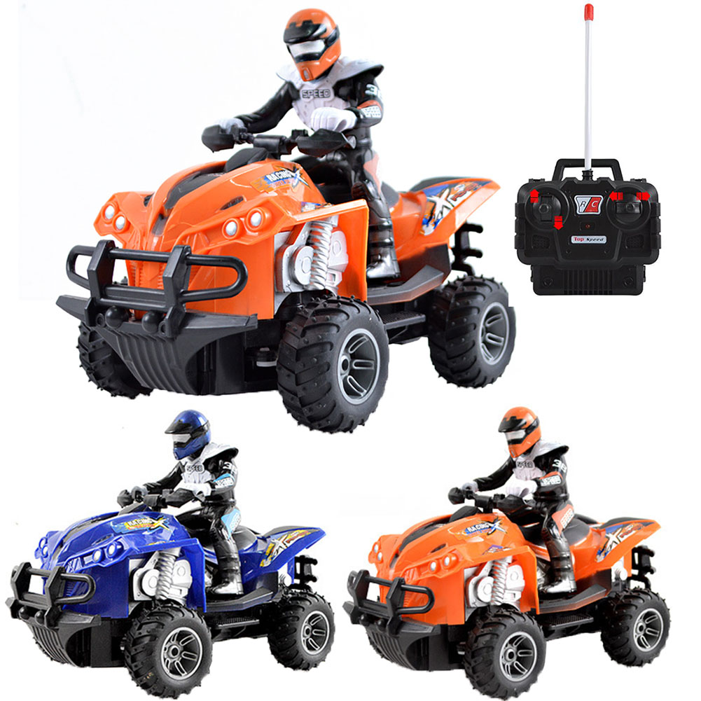 Fun Quad Bike Simulated Driving Children <font><b>RC</b></font> <font><b>Motorcycle</b></font> High Speed Anti Collision Electric Toy Rechargeable Boys Wear Resistant image