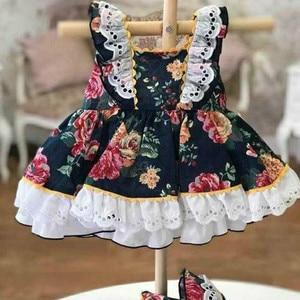 2020new летнее платье в испанском стиле для девочек черное платье с цветочным рисунком платье принцессы в стиле лолиты платье для дня рождения ...