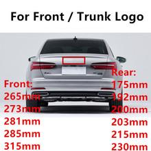 Glänzend Schwarz Emblem Logo für Audi A3 A4 A4L A6L TT Q3 Q5 Q7 A5 A7 RS3 RS4 RS5 RS6 vor Mitte Ringe Grille Badge Trunk Aufkleber cheap CN (Herkunft) Emblems