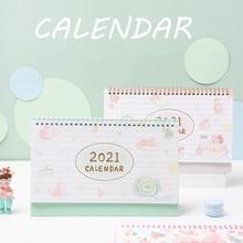 Desk-Calendar Daily-Schedule-Planner Creative Dessert-House Cat's Bronzing