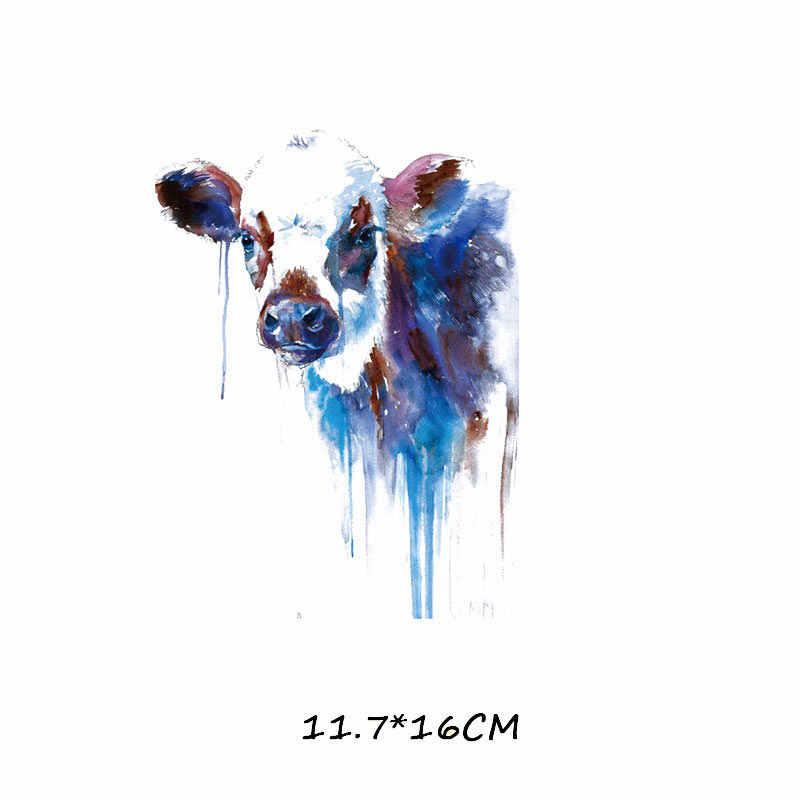미니 패치 세트 철 전송 옷에 대 한 서쪽 동물 스티커 DIY t-셔츠 드레스 Washable 열 전송