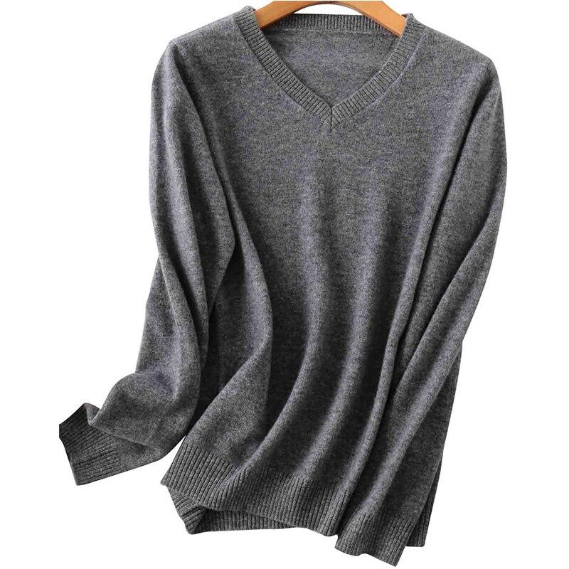100% Merino Wool Women V-Neck Sweater 2020 Autumn Winter Warm Soft knitted Pullover Femme Jumper Women Cashmere Sweater 13