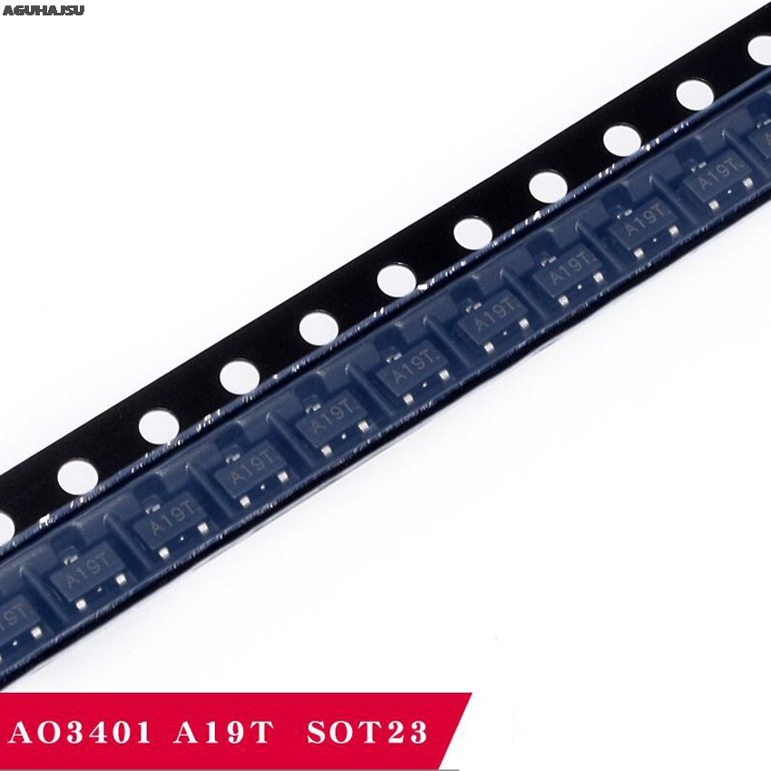 100pcs/lot AO3401 SOT23 SMD A19T New And Original IC In Stock
