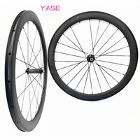YASE 700C road bike straight pull Powerway R39 bicycle accessories 50x23mm clincher wheelset bicycle carbon road wheels bisiklet