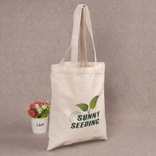 100 pcs/ lot  Wholesale Customized Printing Your Logo Canvas Cotton Tote Bag Backpack Natural Material Shopping Bags