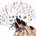 16 шт. абстрактный наклейки для ногтей с изображением красных губ, рутая Девочка ожерелье с подвеской в виде змеи, наклейки переводятся при п...