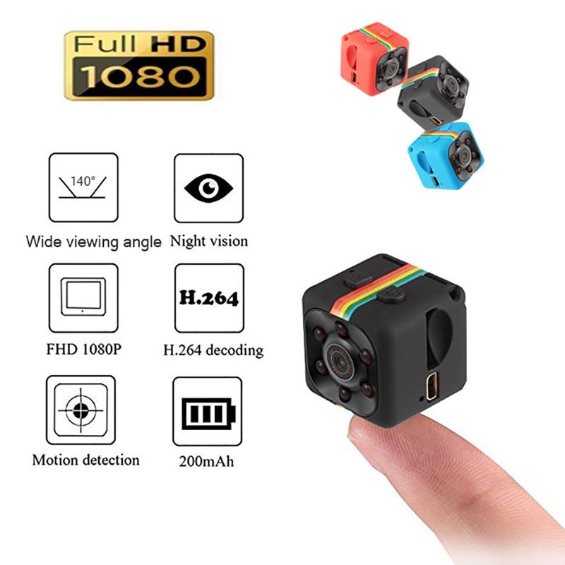 Sq11 mini câmera 1080p sport dv mini, monitor com visão noturna infravermelho, oculto, câmera pequena, gravador de vídeo dv, suporte tf cartão do cartão Câmeras de vigilância    - AliExpress