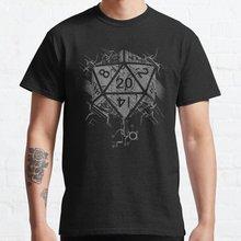 Повседневная мужская футболка D20 Of Power из 100% хлопка с коротким рукавом и круглым вырезом, крутая Мужская футболка в уличном стиле, мужские фу...