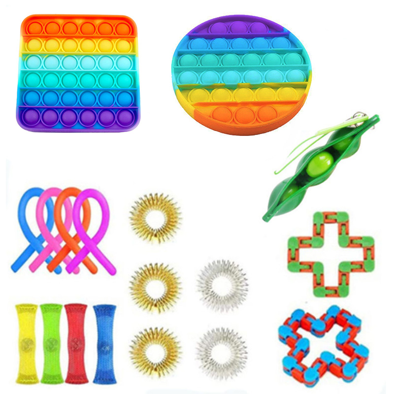 Fidget Toys Anti Stress Set Stretchy Strings Pop It Popit Gift Pack Adults Children Squishy Sensory Antistress Relief Figet Toys img3