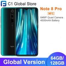 Versão global xiaomi redmi nota 8 pro 6gb 64gb/128gb smartphone helio g90t octa núcleo 64mp quad câmera traseira 6.53