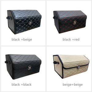 Image 5 - AUTOROWN PU Leather Trunk Organizer Box for Shopping Camping Picnic Home Garage Storage Bag Auto Interior Accessories S/M/L