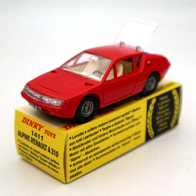 Atlas 1:43 Dinky Toys 1411 ALPINE RENAULT A310 Red Diecast Models Collection Auto Car